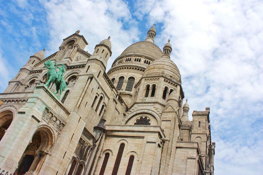 Paris Mon Matre Sacre Coeur Sky Sky And Clouds Cloud - Sky Trees Architecture Arch