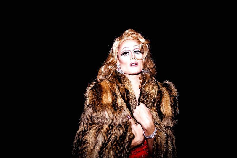 Life's A Drag Portrait Color Portrait Dragqueen  Party Beauty Face Makeup Fur Diva Male