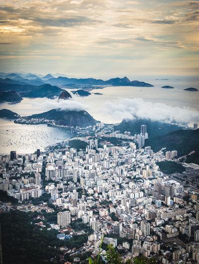 Rio de Janeiro Sky Cloud - Sky City Cityscape High Angle View Rio Rio De Janeiro Sugarloaf Landscape Urban Urban Skyline Skyline Brasil Sea Seascape Coastline Coast Ocean Town TOWNSCAPE Built Structure
