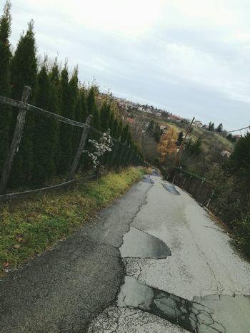 Road Sky No People Outdoors Tree Nature Broken