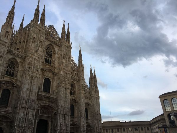 Religion Architecture Cloud - Sky Sky Built Structure Low Angle View Building Exterior Outdoors Milan duomo