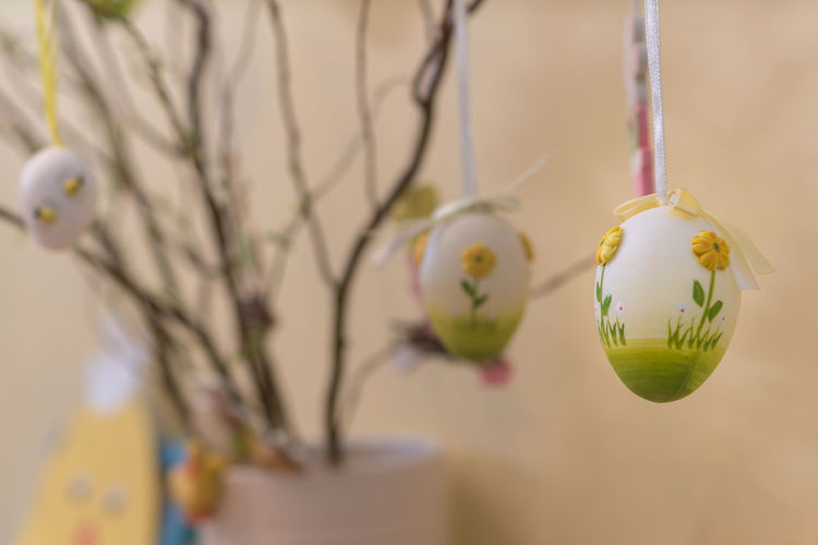 Easter tree close up Easter Easter Eggs Easter Tree Tradition Close-up Day Decoration Easter Decoration Egg Focus On Foreground Indoors  No People
