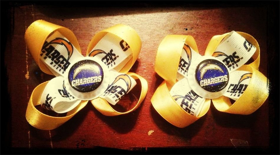 Chargers Hairbows