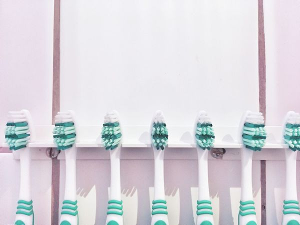 In A Row No People Indoors  Close-up Multi Colored Day Toothbrush Toothbrushes