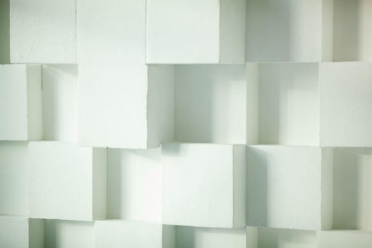 Full frame shot of patterned white wall