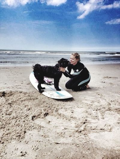 Hello World That's Me Enjoying Life Rømø Dänemark Dk Waterlove Surfingdog Surfing