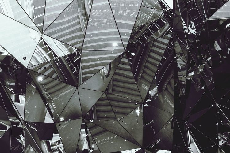 Mirrors. Taking Photos Patterns Abstract Stairs