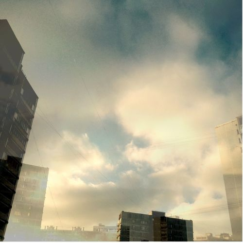 Sky above my place Architecture Building Building Exterior Built Structure City City Life Cloudy Double Exposure Doubleexposure Modern Outdoors Sky Urban Skyline