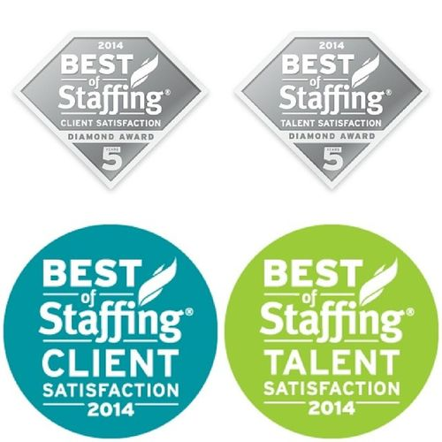 Pleased to announce that PrideStaff wins Inavero 's 2014 BestOfStaffing® Client Diamond Award