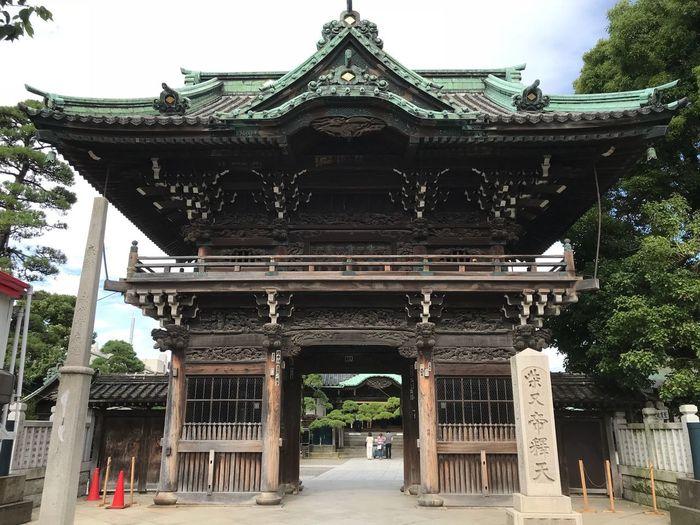 帝釈天 古刹 Architecture Built Structure Building Exterior Tree Plant Building Belief No People Place Of Worship Spirituality Gate