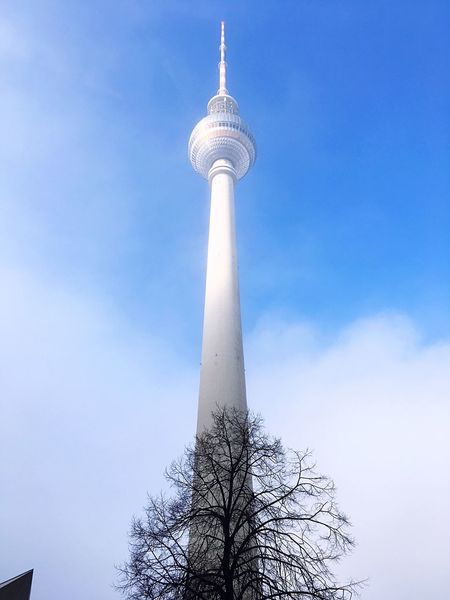 Fernsehturm Fernsehturm Berlin  Architecture Nature Cityscape Nature Vs City Nature Vs Concrete Sky Foggy Weather Architecture Tower Tall - High Low Angle View Television Tower No People Built Structure Day Tree