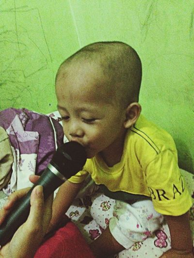 What Does Music Look Like To You? Singing Child Son