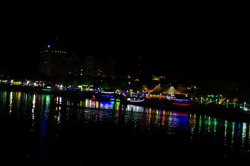 Colourful Kuching Nightphotography Low Light Photography Malaysia Night River Sarawak Streetphotography