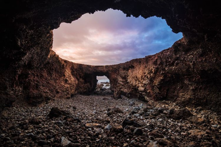 The Hole Colors Colorful Sky Cloud - Sky Clouds And Sky Rock - Object Island Beauty In Nature Tranquility Adventure Travel Destinations Tranquil Scene EyeEm Best Shots EyeEmNewHere EyeEm Nature Lover Eye4photography  EyeEm Gallery Canary Islands SPAIN Shades Of Winter