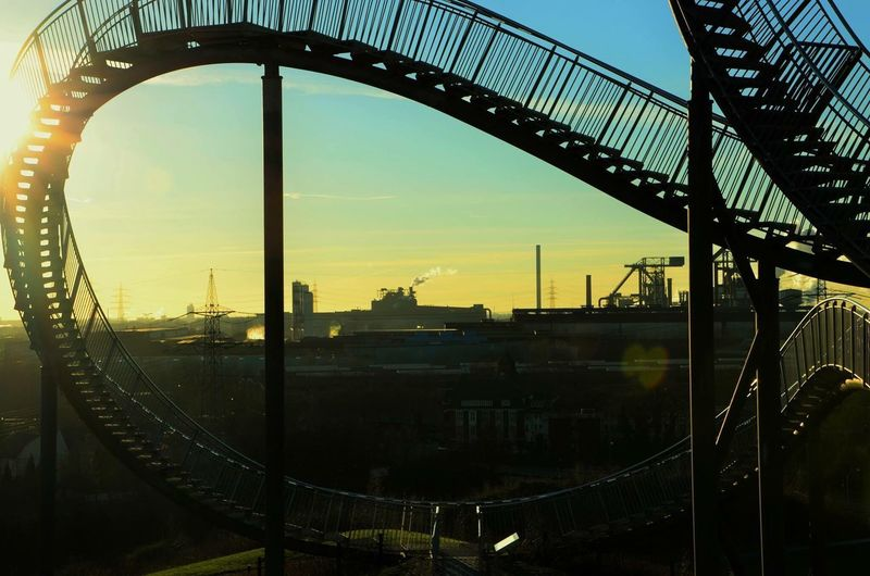 Duisburg Tiger and Turtle Bridge - Man Made Structure Connection Built Structure Transportation No People Architecture Sky Outdoors Sunset Day Tigerandturtle Duisburg Germany Ruhrgebiet Perspectives On Nature Be. Ready. Colour Your Horizn