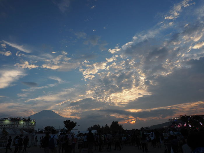 Sunset Sky Event Silhouette Outdoors Travel Destinations Nature Sky And Clouds Beauty In Nature Taking Pictures Taking Photos Olympus Mt Fuji Rock Festival Summer Memories 🌄