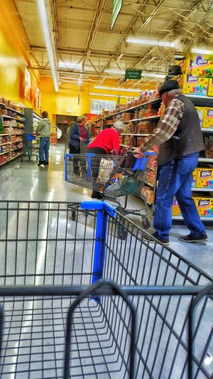 Showcase: February Lets Go Shopping People Watching Buying Food Walmart Flow Elderly In America Shopping Cart Spying Being Sneaky