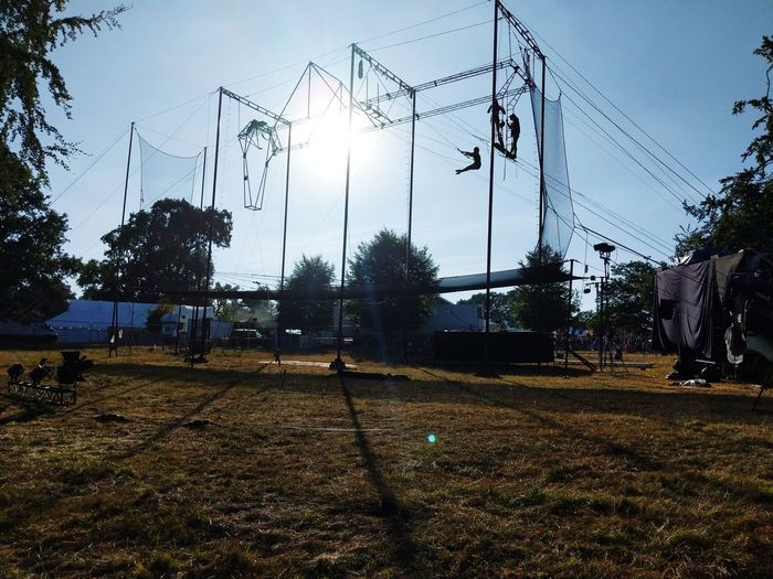 #Acrobats practicing at a festival Acrobatics  Acrobat Trapeze Trapeze Artist Tree Soccer Field
