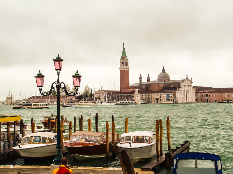 Venedig Architecture Building Building Exterior Built Structure Canal Cloud - Sky Gondola - Traditional Boat Mode Of Transportation Moored Nature Nautical Vessel No People Outdoors Place Of Worship Post Sky Transportation Travel Travel Destinations Water Wooden Post