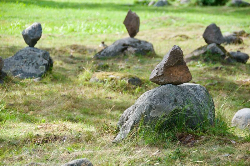 Day Equilibrium Field Grass Land Nature No People Outdoors Plant Pyramid Of Stone Rock Rock - Object Solid Stone - Object Stones