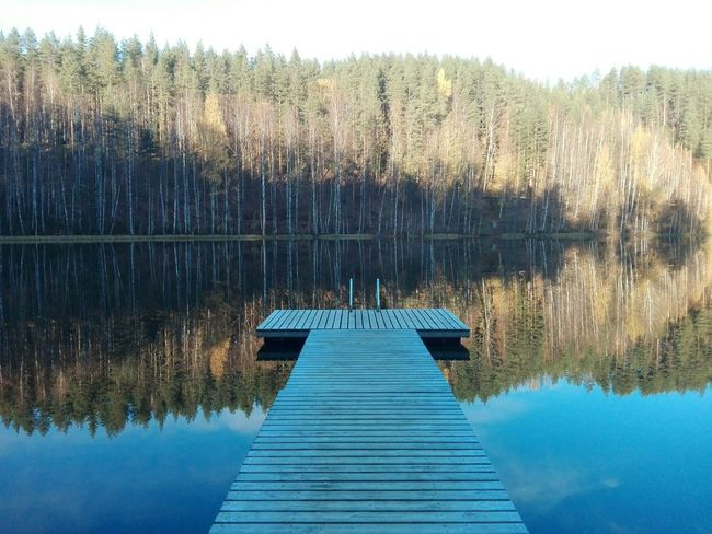 Last summer reflection Water Nature Tree Reflection Beauty In Nature Clear Sky Day Nature Summer Memories... Summertime Nature Photography Photography Photographer Beauty In Nature Finnish Nature Landscape_photography Reflections In The Water Naturebeauty