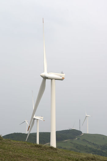 wind power place at Samyang Ranch in Daegwanryeong, Gangwondo, South Korea Alternative Energy Beauty In Nature Day Environmental Conservation Field Fog Fuel And Power Generation Industrial Windmill Landscape Low Angle View Nature No People Outdoors Power In Nature Renewable Energy Scenics Sky Sustainable Resources Technology Traditional Windmill Wind Power Wind Turbine Windmill