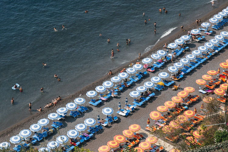 A weekend in Amalfi Amalfi Coast Aerial View Beach Day Europe High Angle View Large Group Of Objects Large Group Of People Nautical Vessel Outdoors People Water
