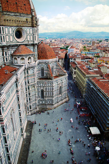 High angle view of  duomo santa maria del fiore