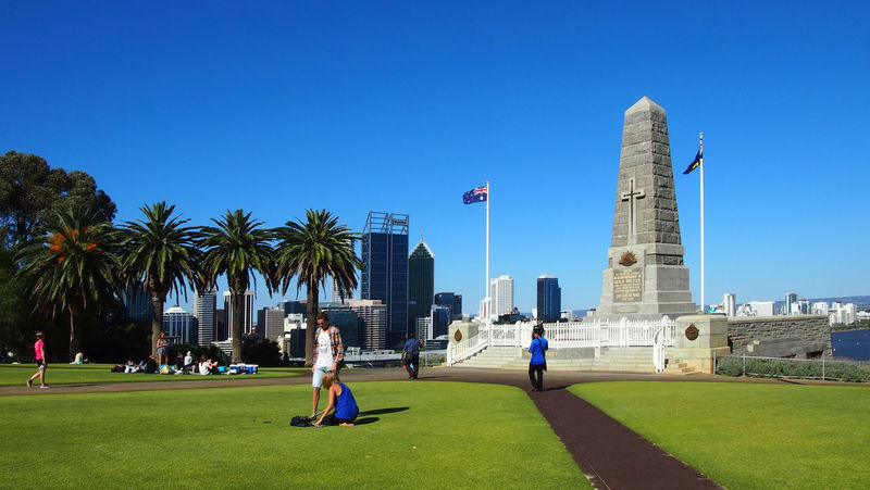 Beautiful sunny day in the city of Perth, Australia Australia Botanic Garden City Park Kings Park And Botanical Garden Memorial Nature Perth Perth Australia Sightseeing State War Memorial Tourist Attraction  Travel Travel Photography Traveling Travelling Western Australia Architecture Australia & Travel Blue Built Structure City Clear Sky Day Full Length Garden Grass Growth Incidental People Kings Park Leisure Activity Lifestyles Outdoors Palm Trees Park - Man Made Space Real People Skyscraper Tall Tourist Destination Travel Destination Travel Destinations Tree Urban Skyline Vacations