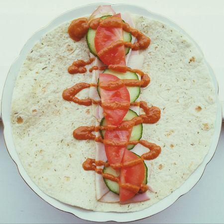Lunch Wrap Healthy Food Turkey