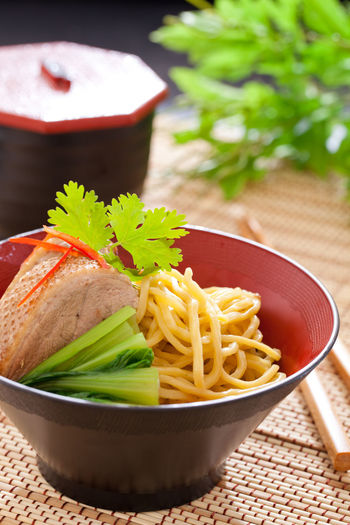 Duck Roast Noodles Asian Food Bowl Food Food And Drink Freshness Garnish Indoors  Indulgence Japanese Food Plate Potato Prepared Potato Ready-to-eat Serving Size Still Life Table Temptation Vegetable Wellbeing
