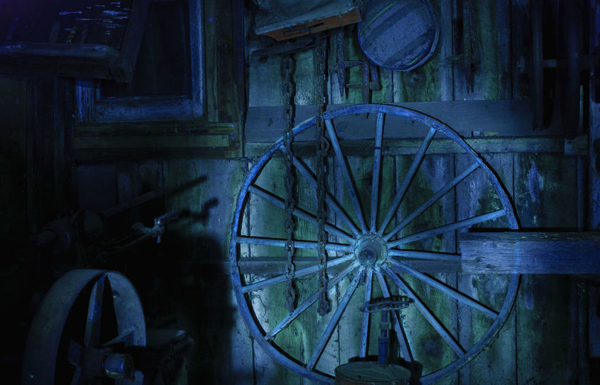 Abandoned Close-up Day Indoors  Light Painting Night Shots  No People Old-fashioned Spooky Wagon Wheel Watermill Wood - Material