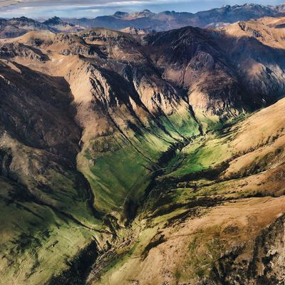 Explore New Zealand Remarkables Scenics - Nature Landscape Tranquil Scene Beauty In Nature Environment Tranquility Mountain Nature High Angle View Physical Geography Geology