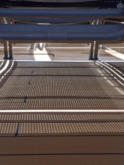 Shadow lines under the sun lounger Casting A Shadow Close-up Lines Loungers No People Shadow Shadow Lines Sun Loungers