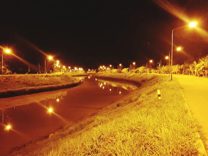 #memory Lane Illuminated Street Light Sky First Eyeem Photo