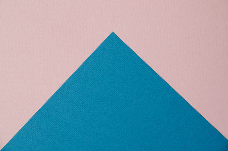 Above Abstract Arrows Backgrounds Blue Close-up Color Colorful Contrast Copy Space Full Frame No People Paper Papercraft Pink Color Textured  Textures And Surfaces Triangle Shape Break The Mold