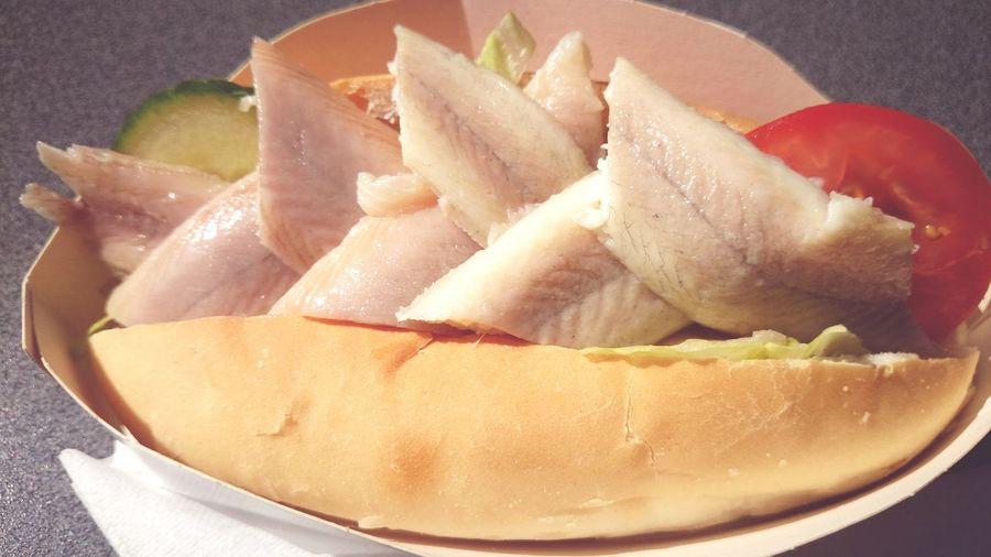 Hving a bueno Bocadillo con Pescado Paling it is Seafood Food Photography