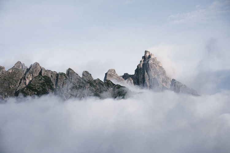 A classic alpine shot Beauty In Nature Cloud - Sky Cold Temperature Day Environment Formation Landscape Mountain Mountain Peak Mountain Range Nature No People Non-urban Scene Outdoors Rock Rock - Object Scenics - Nature Sky Solid Tranquil Scene Tranquility