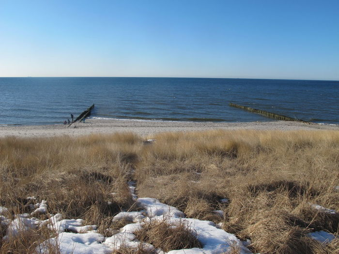 Scenic View Of Baltic Sea Against Sky During Winter