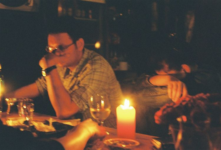 Bar Drinking Candle 35mm Film 35mm Film Film Photography Seoul People