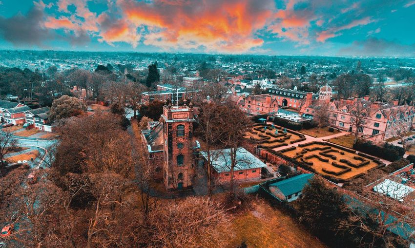 Beautiful Camera Drone  Drone Moments Drones High Above Architecture Beauty In Nature Day Drone Photography Dronephotography Droneshot England High Angle View Landscape No People Outdoors Sunset