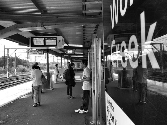 Waiting for the train Public Transportation Shadows & Lights Monochrome