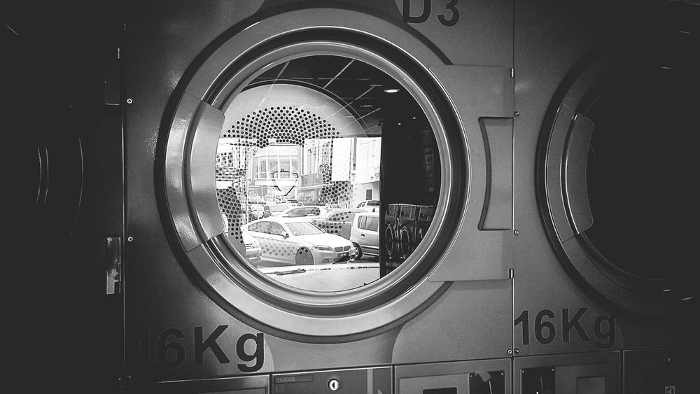 Circle Indoors  Day Adult People Adults Only Occupation Washing Machine EyeEmNewHere Eyemphotography KluangMan Cityscape Drying Clothes Kluang Famous Raining☔ Reflection Photography