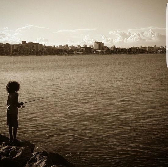 Eyeemphoto Sunset Boy Fishing🐟🎣 Boy Fishing Sky Urban City Brazil Brasil Poor  Happy Poorbuthappy Happiness ♡ Life Lifestyles Lifephotography Photography