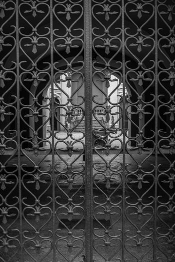 Backgrounds Black And White Black And White Collection  Black And White Photography Built Structure Close-up Closed Closed Gate Day Design Full Frame Gate Metal No People Outdoors Pattern Stairs_collection The Architect - 2017 EyeEm Awards