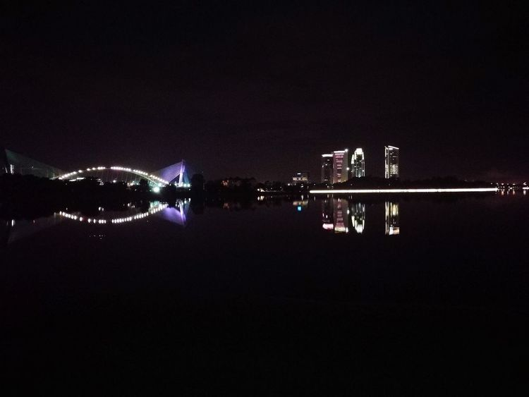 Putrajaya,malaysia Reflection Light ACROSS THE LAKE