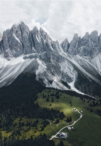 Dolomites, Italy Beauty In Nature Cloud - Sky Day Environment Idyllic Land Landscape Mountain Mountain Peak Mountain Range Nature No People Non-urban Scene Outdoors Plant Scenics - Nature Sky Snowcapped Mountain Tranquil Scene Tranquility Transportation Tree The Great Outdoors - 2018 EyeEm Awards