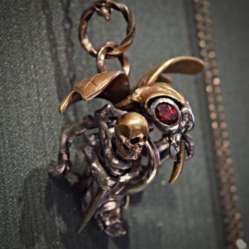 MadetoOrder Hand Made Jewelry Silveraccessories KeyHolder Pendants Necklace ArtWork Hello World