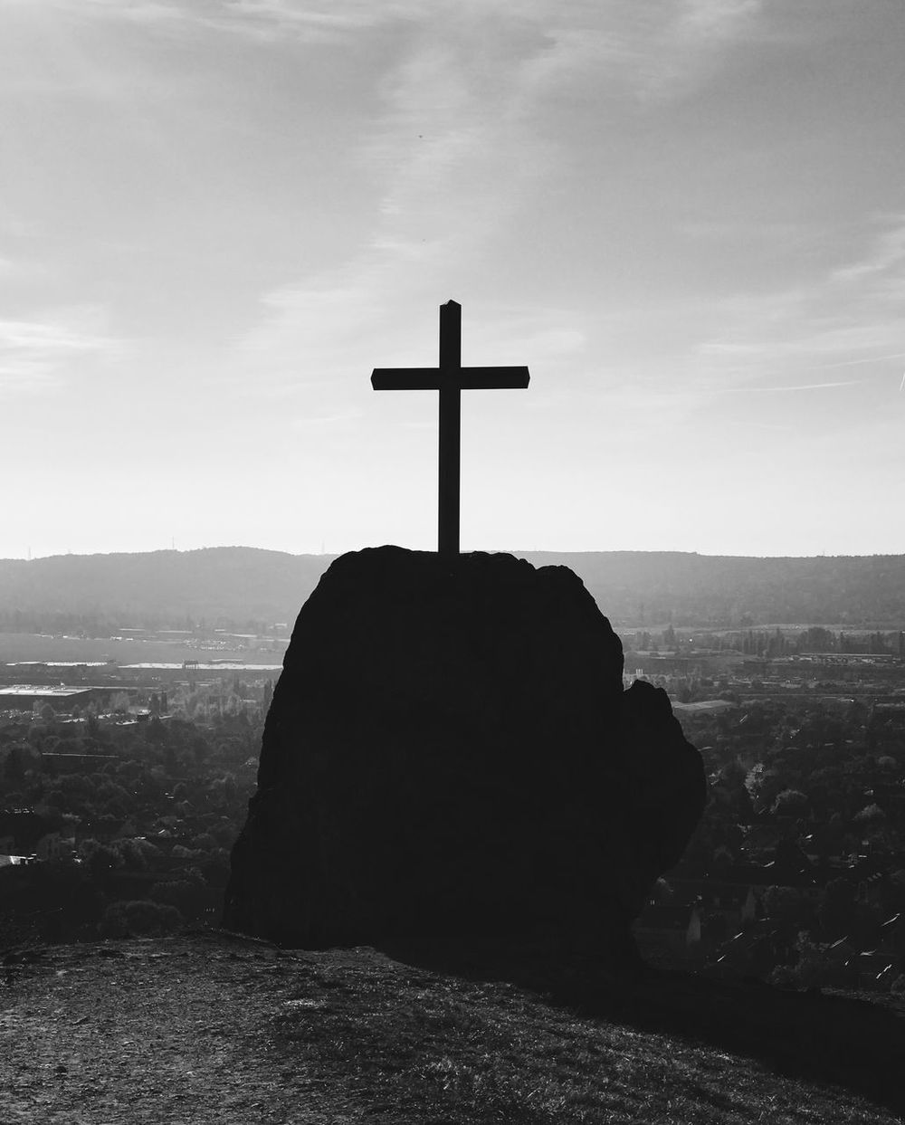 Black & White Hungary Blackandwhite Bnw_captures Bnw_collection Bnw_life Bnw_society Bw_collection Bw_lover Cross Monochrome Monotone No People Outdoors Religion Rock - Object Spirituality Tranquil Scene Tranquility
