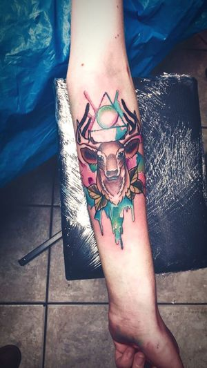 Lifestyles Creativity Tattoo Watercolor Harrypotter Patronus Deer Swollen Pain Fangirl Finally